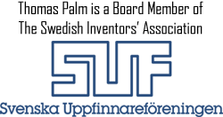 Thomas Palm - Palmiga Innovation is a Board Member of The Swedish Inventors' Association - SUF - Svenska Uppfinnarföreningen