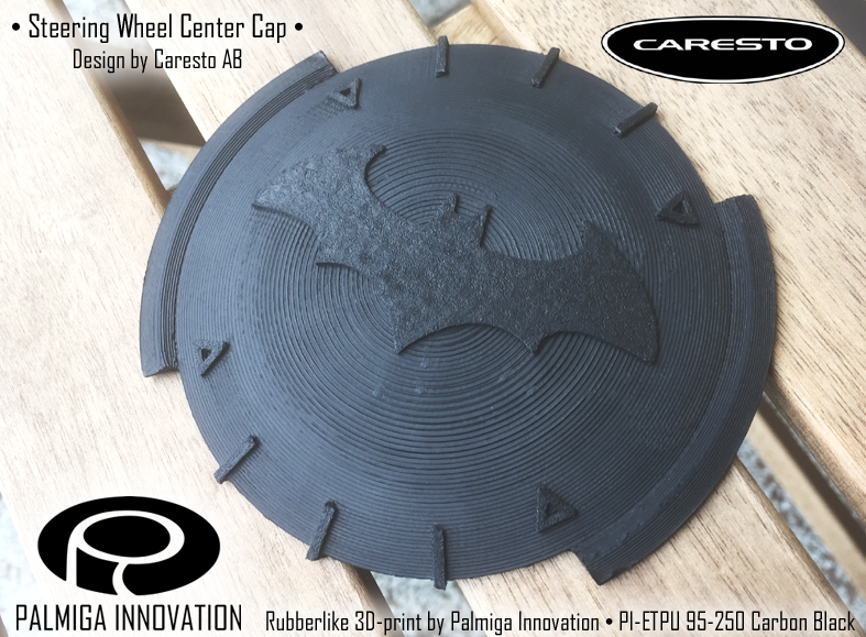 3d printed Steering wheel center cap - Caresto Arkham car