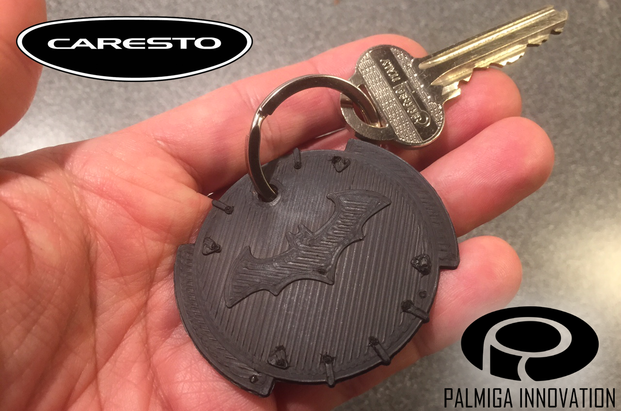 free download 3d-printed palmiga caresto arkham car keychain token