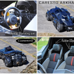 3D printed rubberlike parts in Caresto Arkham Car - printed by Palmiga Innovation / Rubber3Dprinting.com