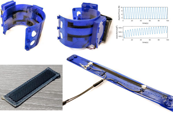 3dprinted ETPU EMG Piezo resistive Capacitive sensors